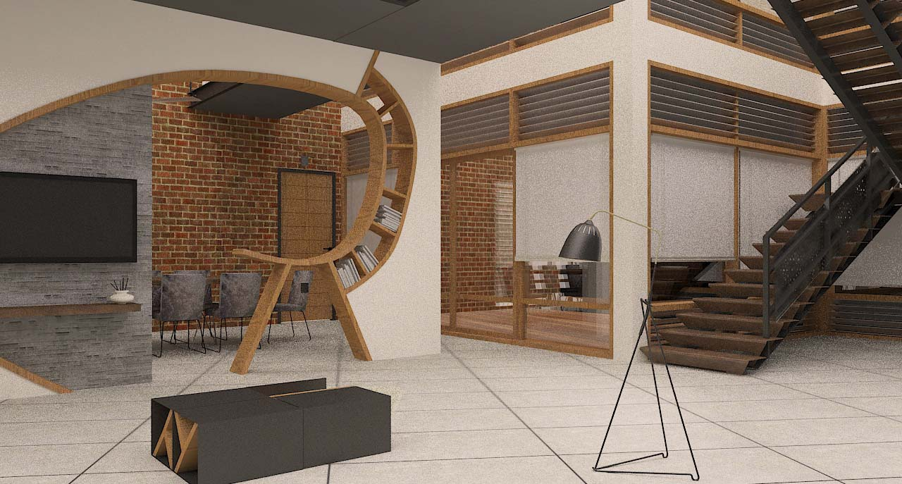 Living area & Staircase